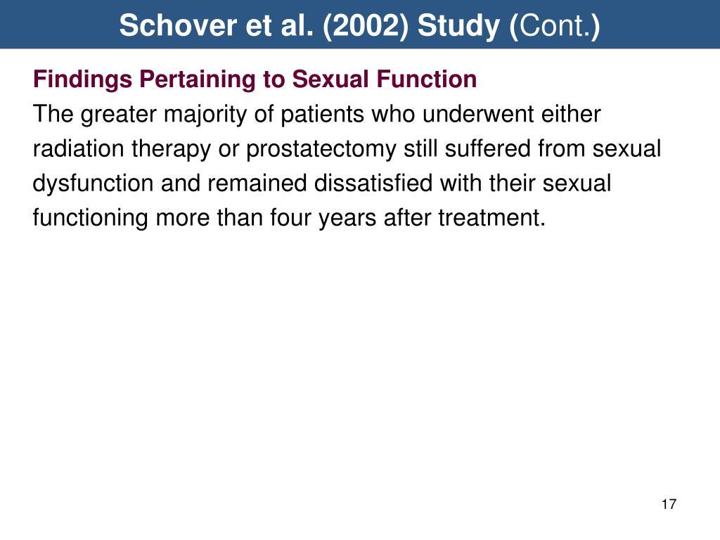 Schover et al. (2002) Study (