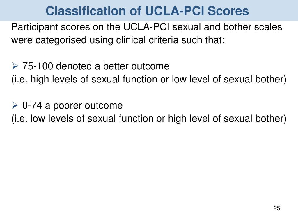 Classification of UCLA-PCI