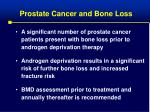 prostate cancer and bone loss