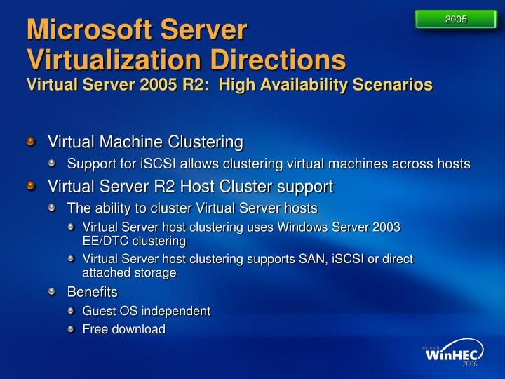 Download virtualization with microsoft virtual server 2005 by.