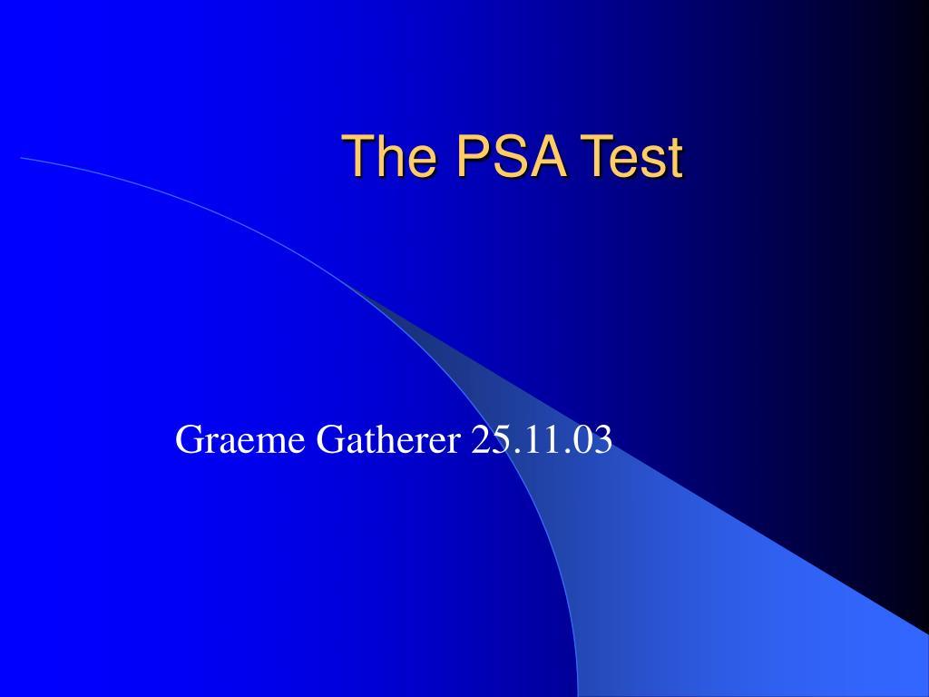 the psa test l.