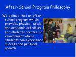 after school program philosophy