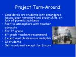 project turn around