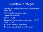 transition strategies