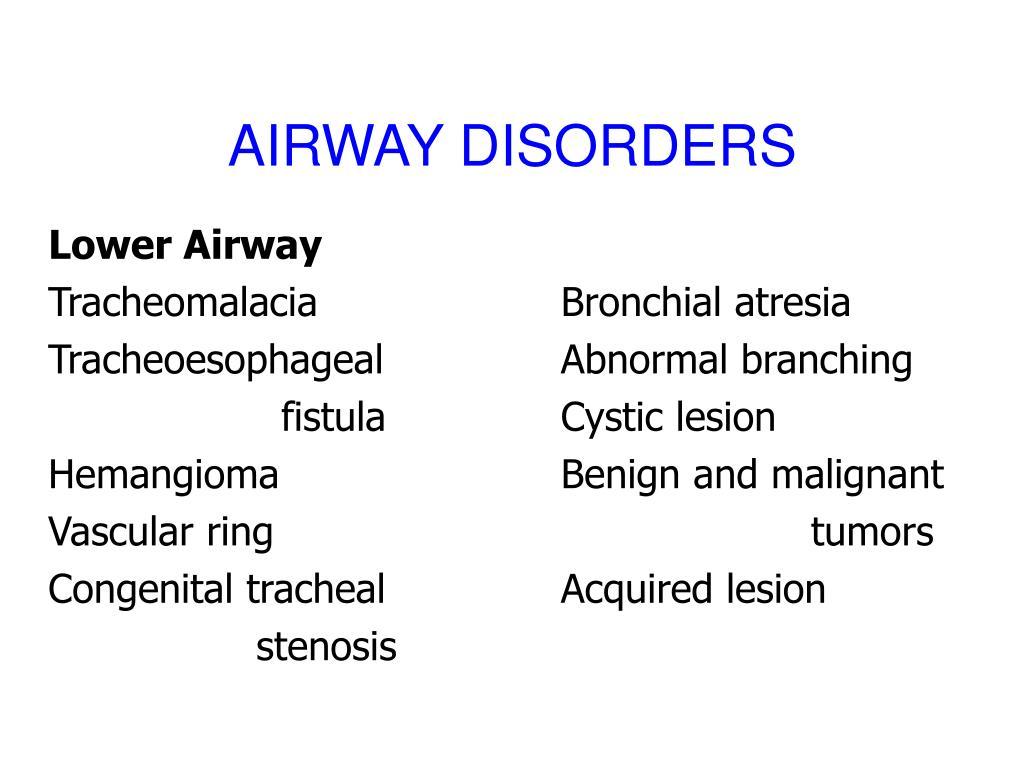 AIRWAY DISORDERS