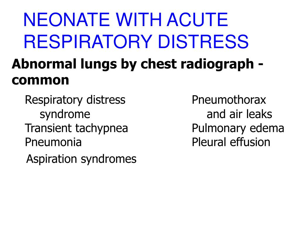 NEONATE WITH ACUTE