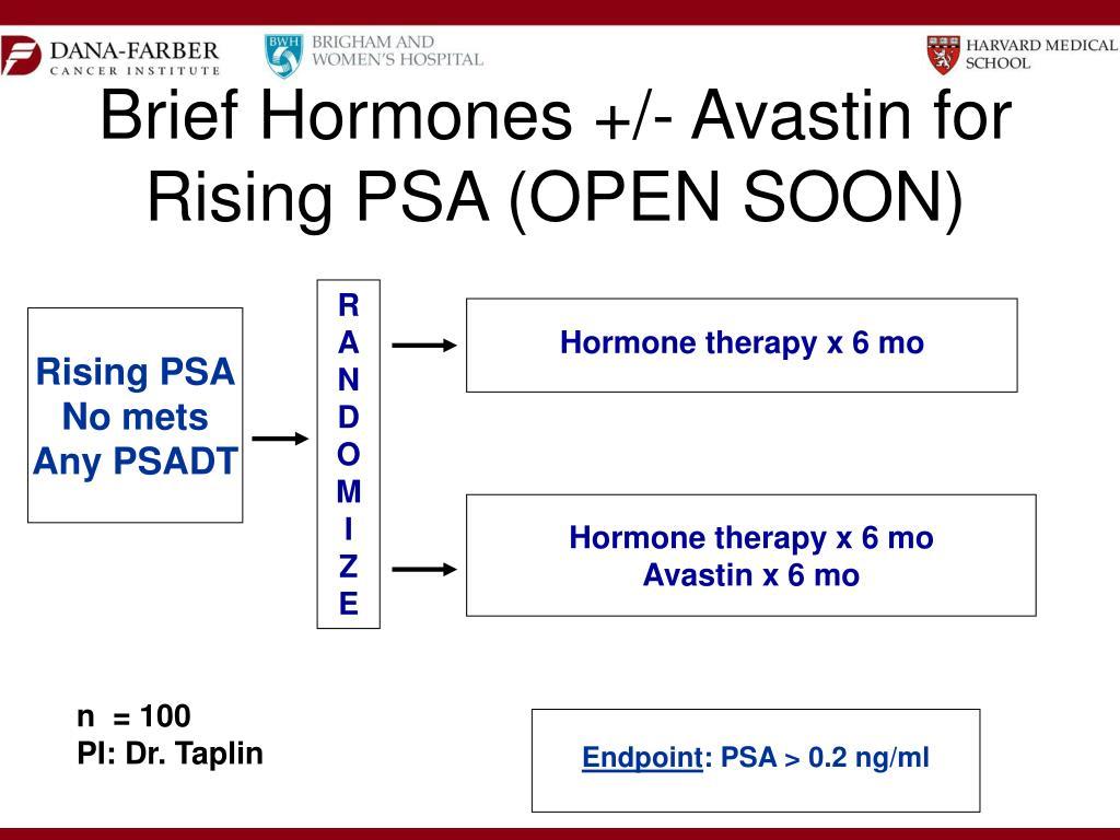Brief Hormones +/- Avastin for Rising PSA (OPEN SOON)