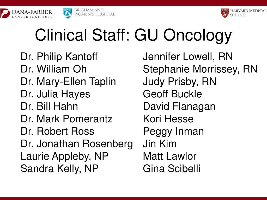 Clinical Staff: GU Oncology