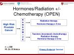 hormones radiation chemotherapy open