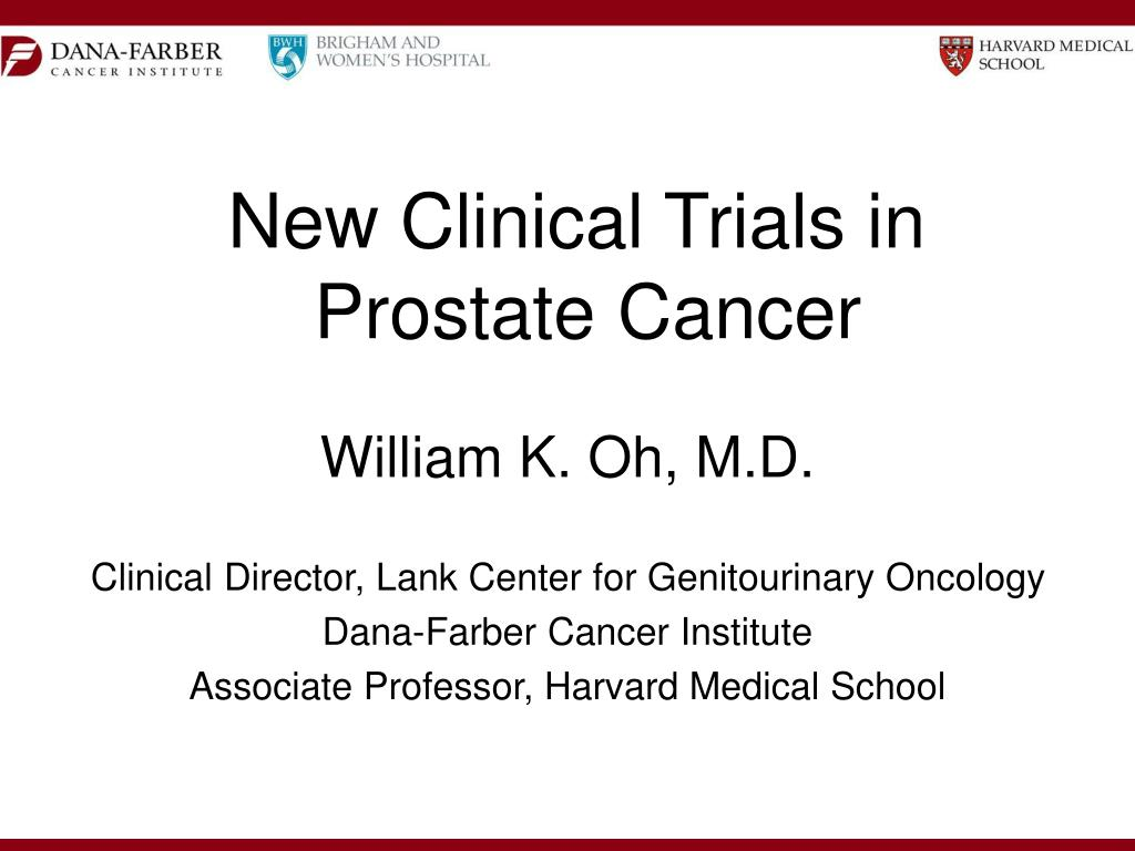 new clinical trials in prostate cancer l.