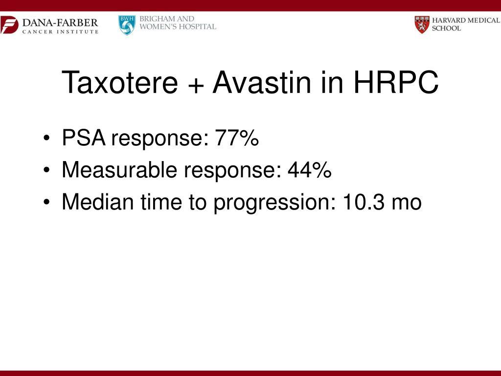 Taxotere + Avastin in HRPC