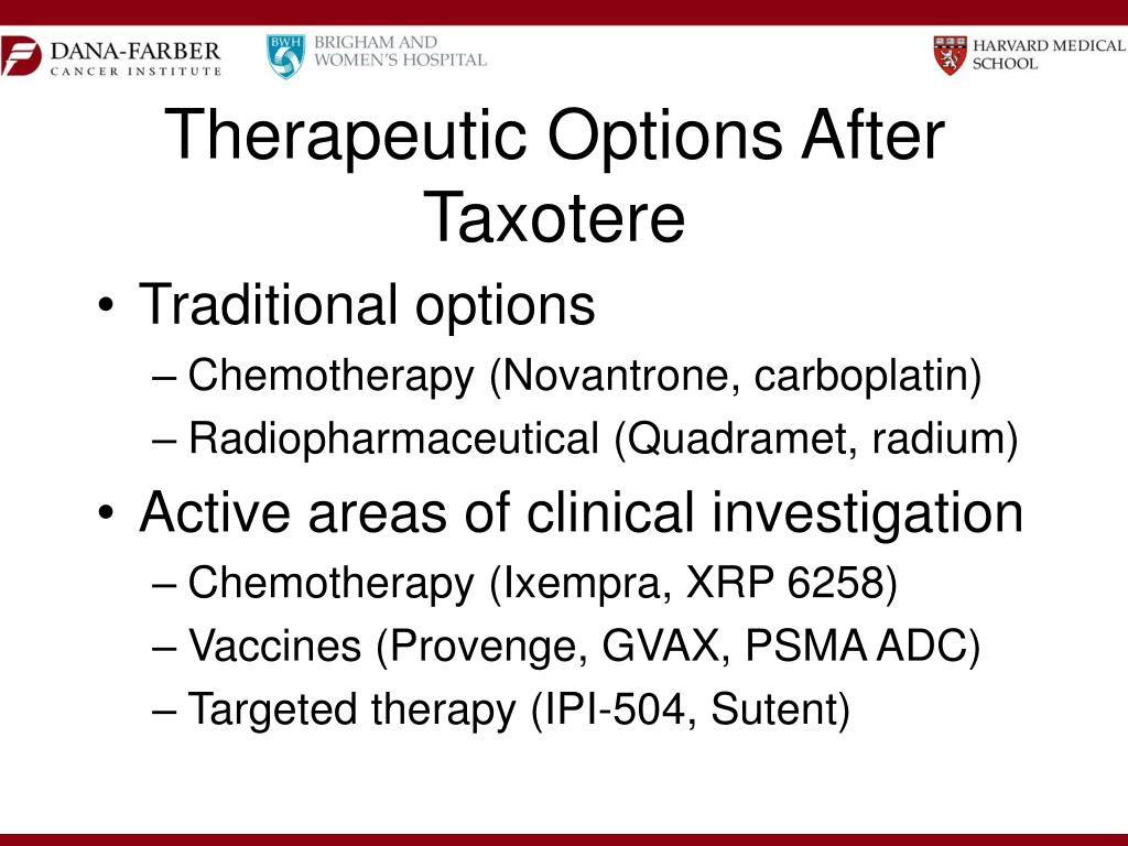 Therapeutic Options After Taxotere
