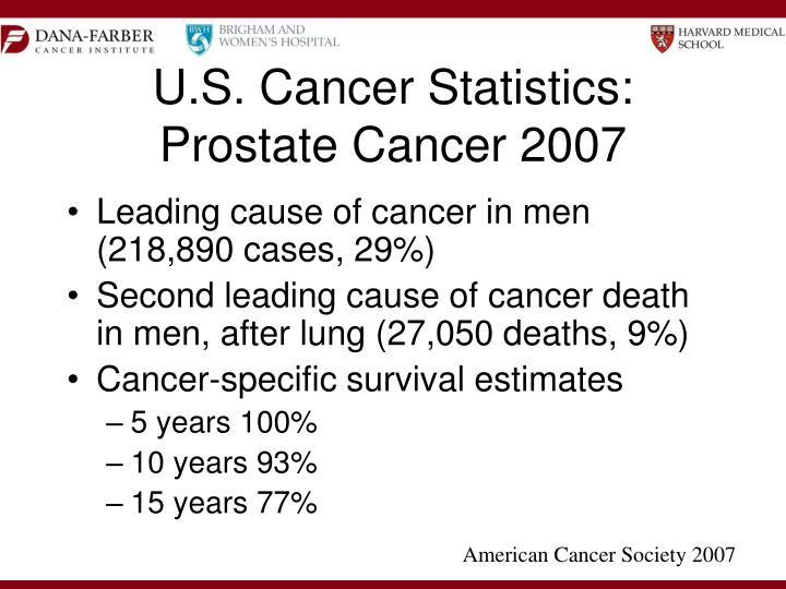 U s cancer statistics prostate cancer 2007