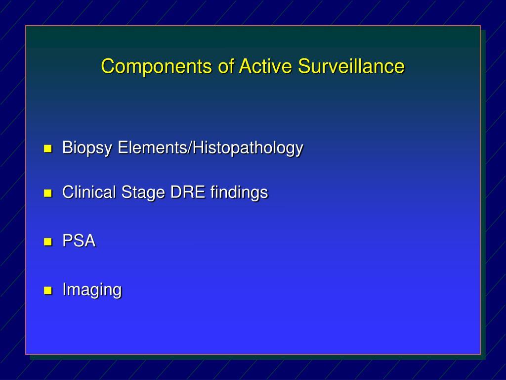 Components of Active Surveillance