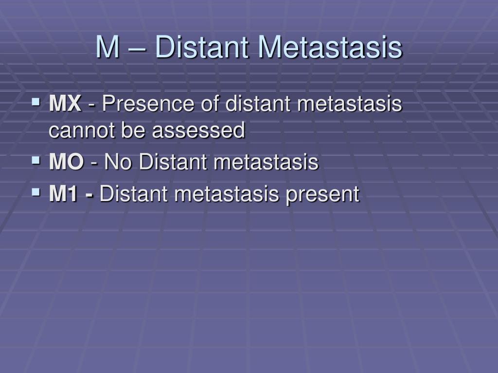 M – Distant Metastasis