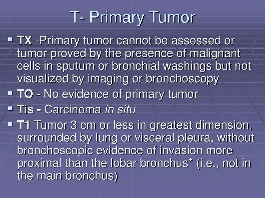 T- Primary Tumor
