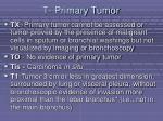 t primary tumor