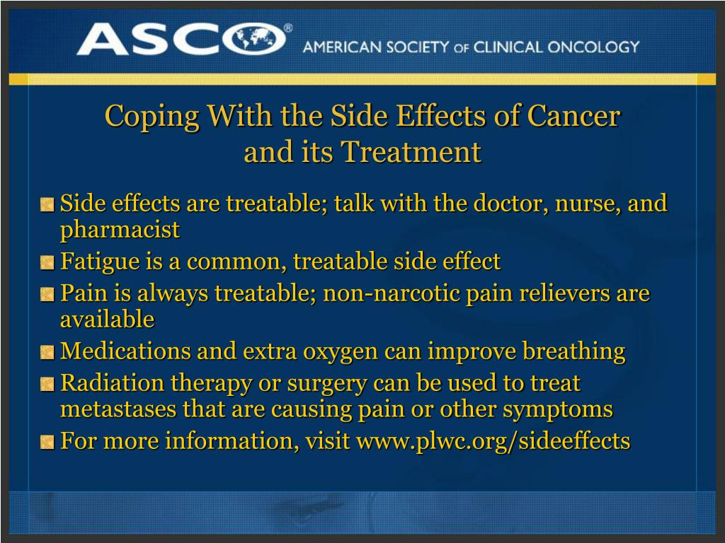 Coping With the Side Effects of Cancer