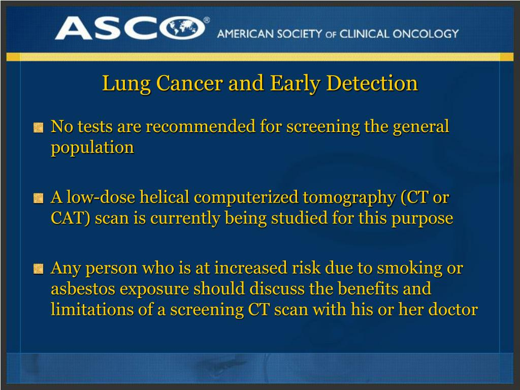 Lung Cancer and Early Detection