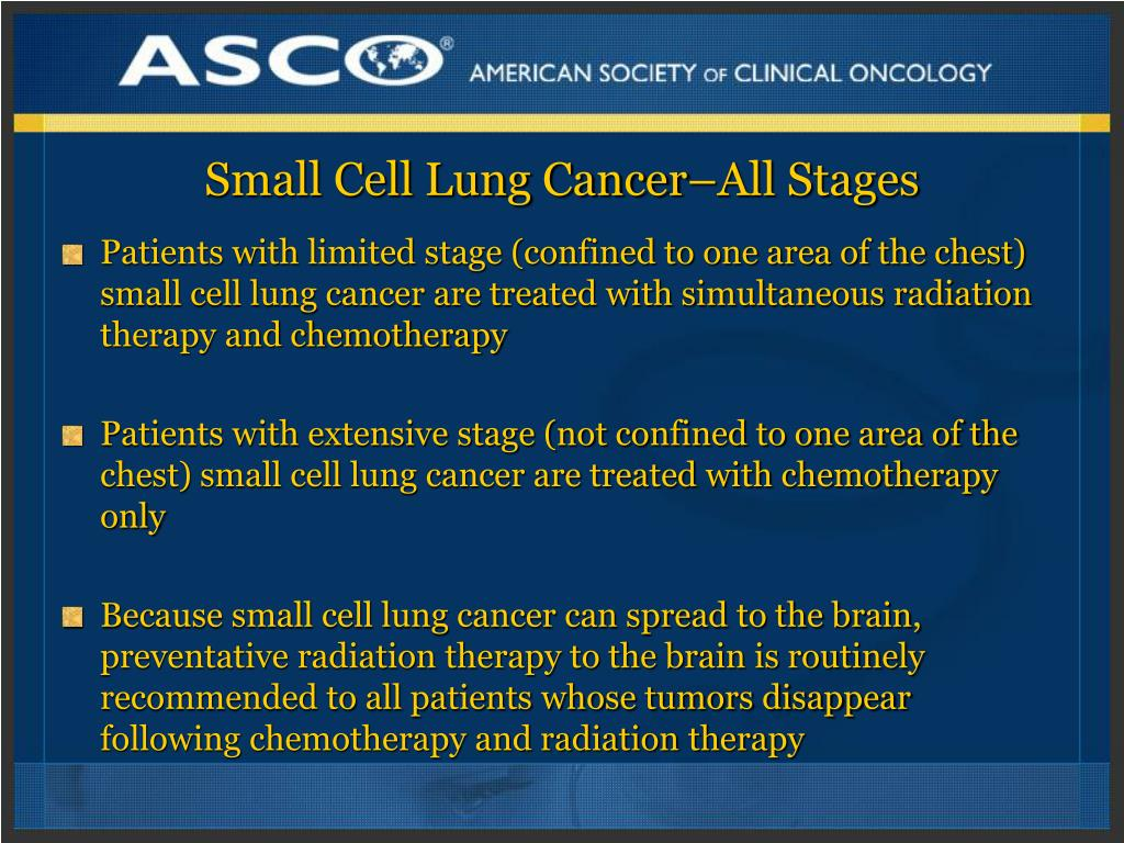 Small Cell Lung Cancer–All Stages