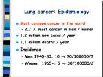 lung cancer epidemiology