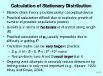 calculation of stationary distribution