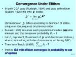 convergence under elitism