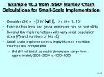 example 10 2 from isso markov chain calculations for small scale implementation