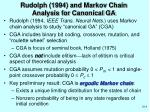 rudolph 1994 and markov chain analysis for canonical ga