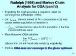 rudolph 1994 and markov chain analysis for cga cont d
