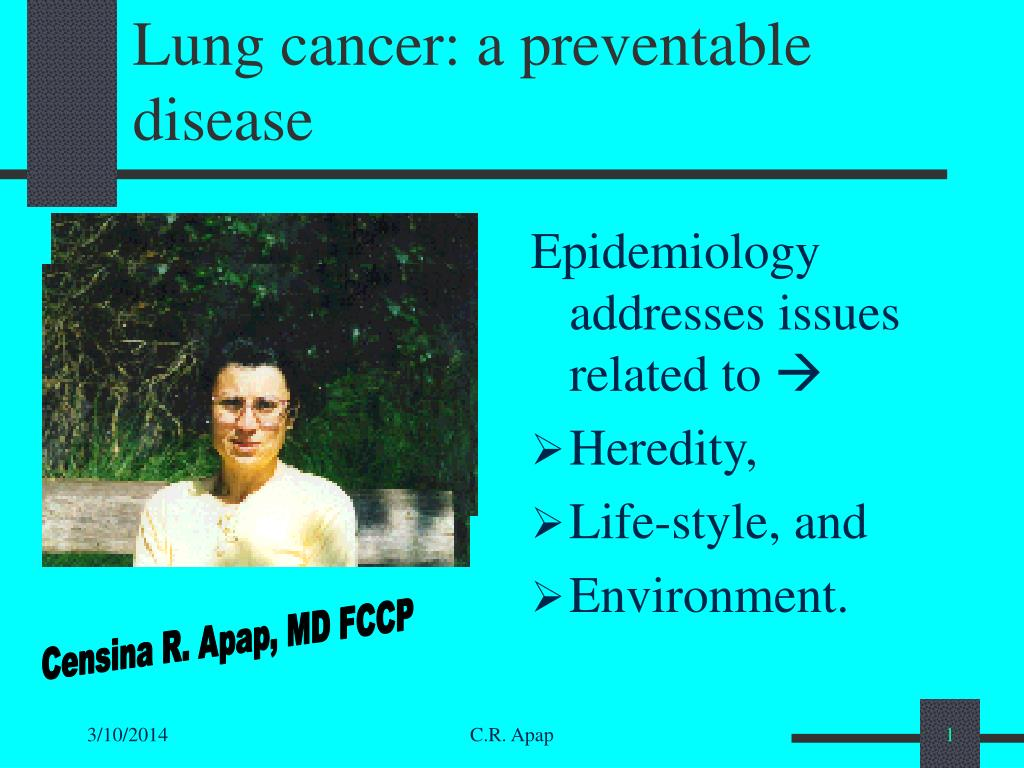 lung cancer a preventable disease l.