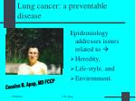 lung cancer a preventable disease