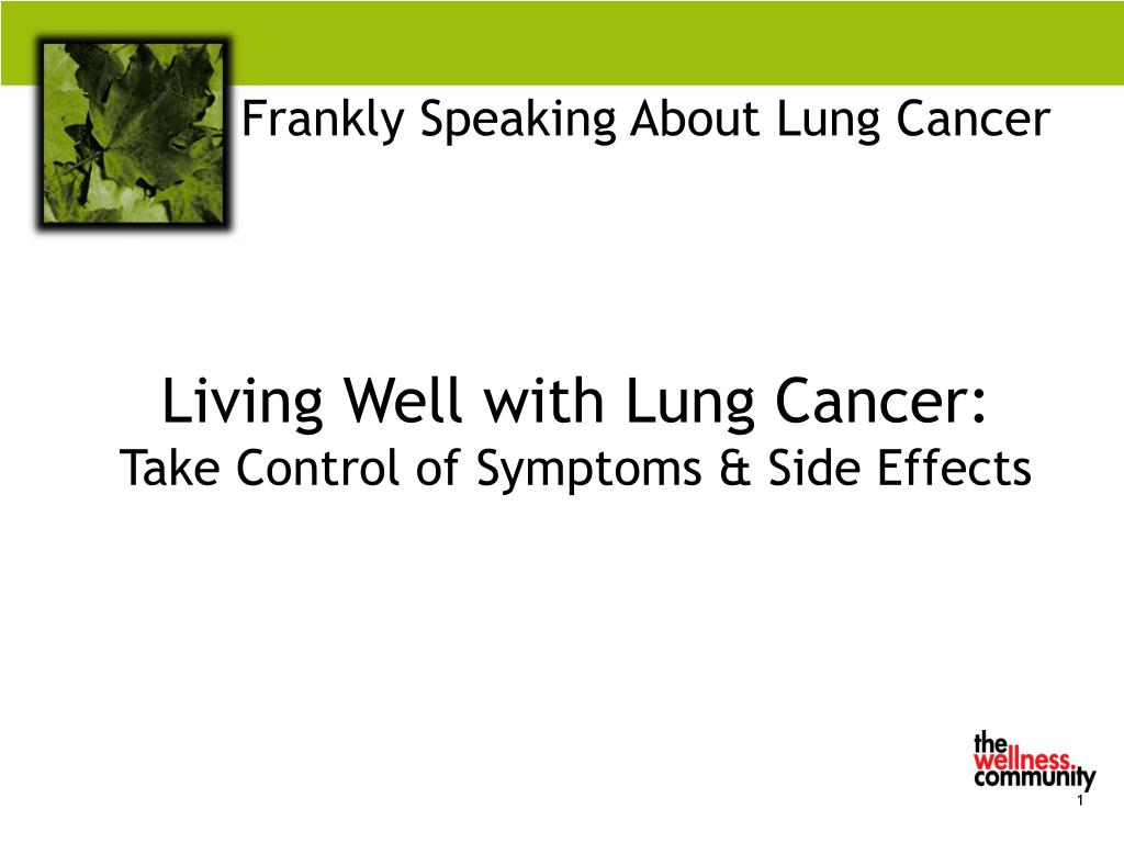 frankly speaking about lung cancer l.