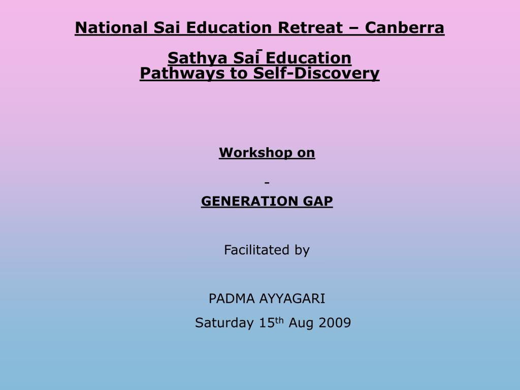 National Sai Education Retreat – Canberra