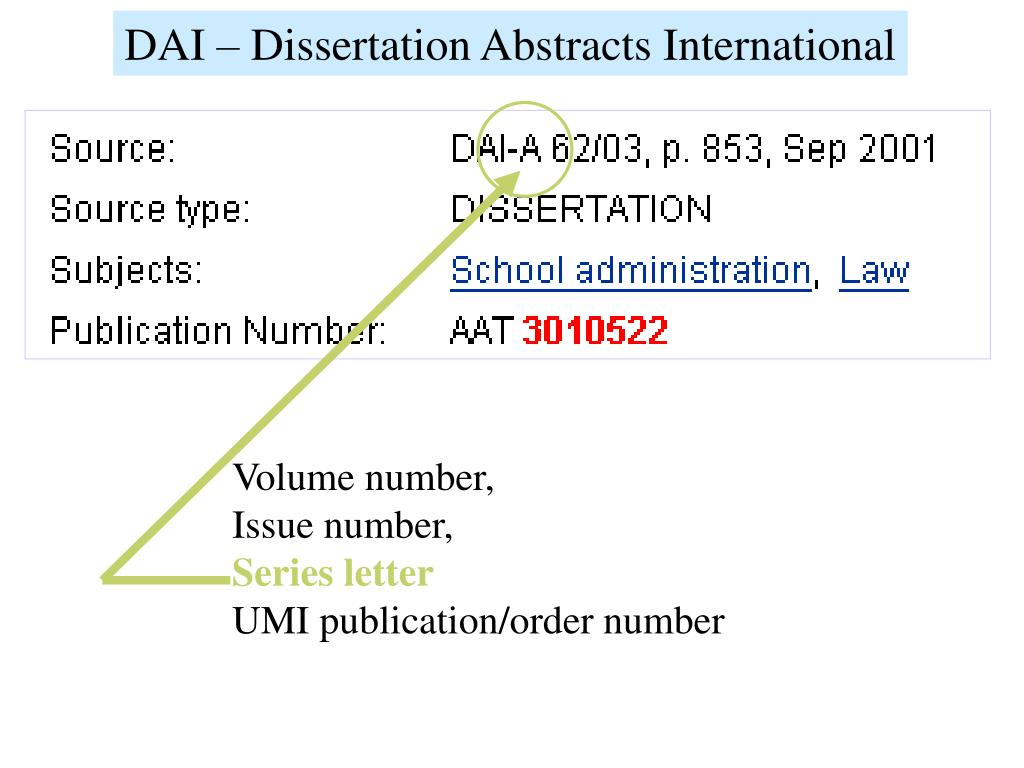 Dissertation abstracts international website
