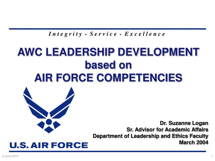 awc leadership development based on air force competencies n.