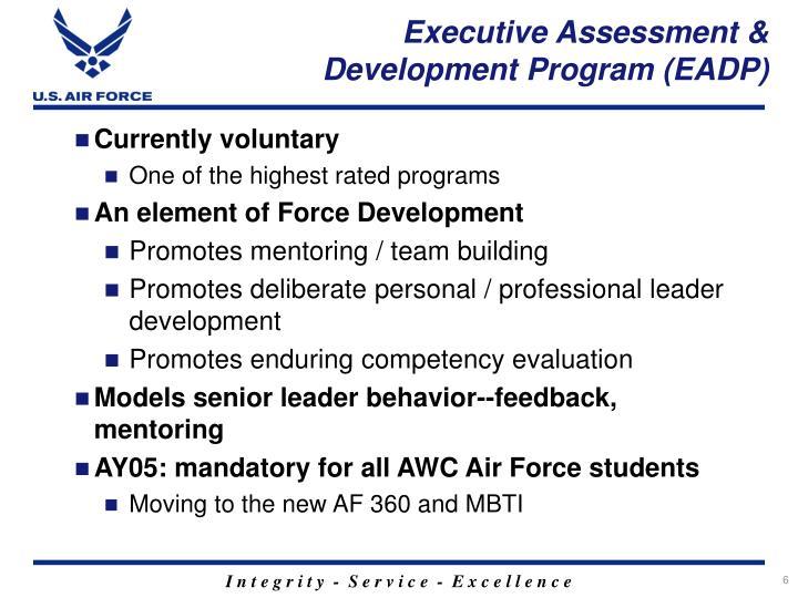 Executive Assessment & Development Program (EADP)
