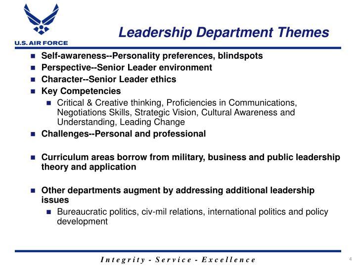 Leadership Department Themes
