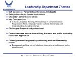 leadership department themes