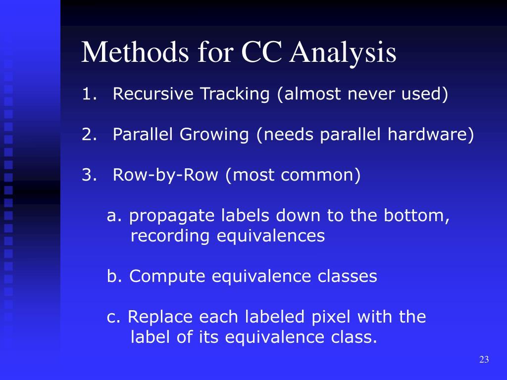 Methods for CC Analysis