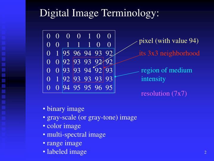 Digital Image Terminology: