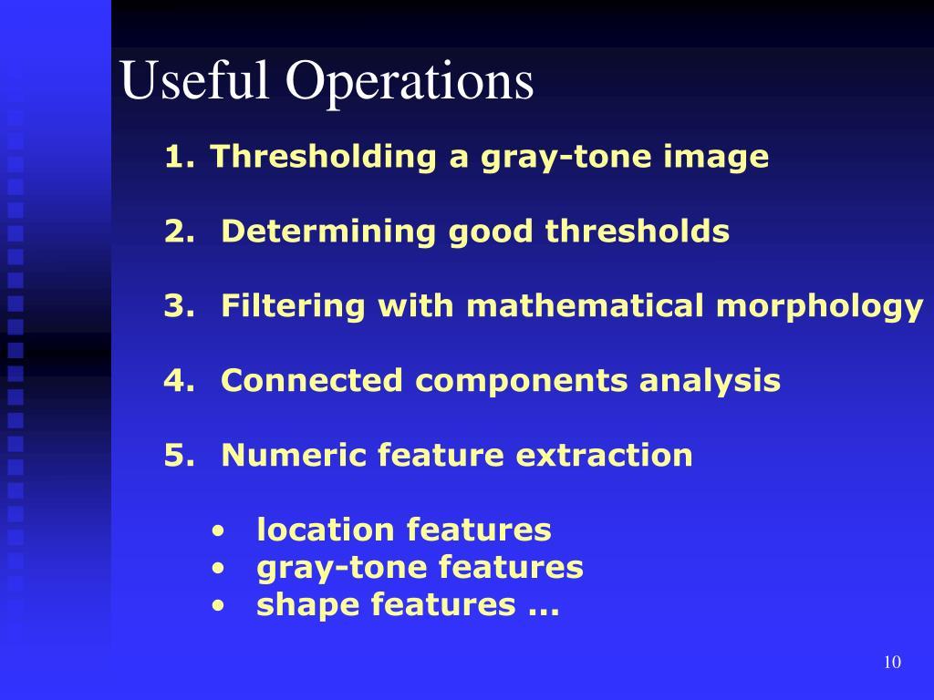 Useful Operations