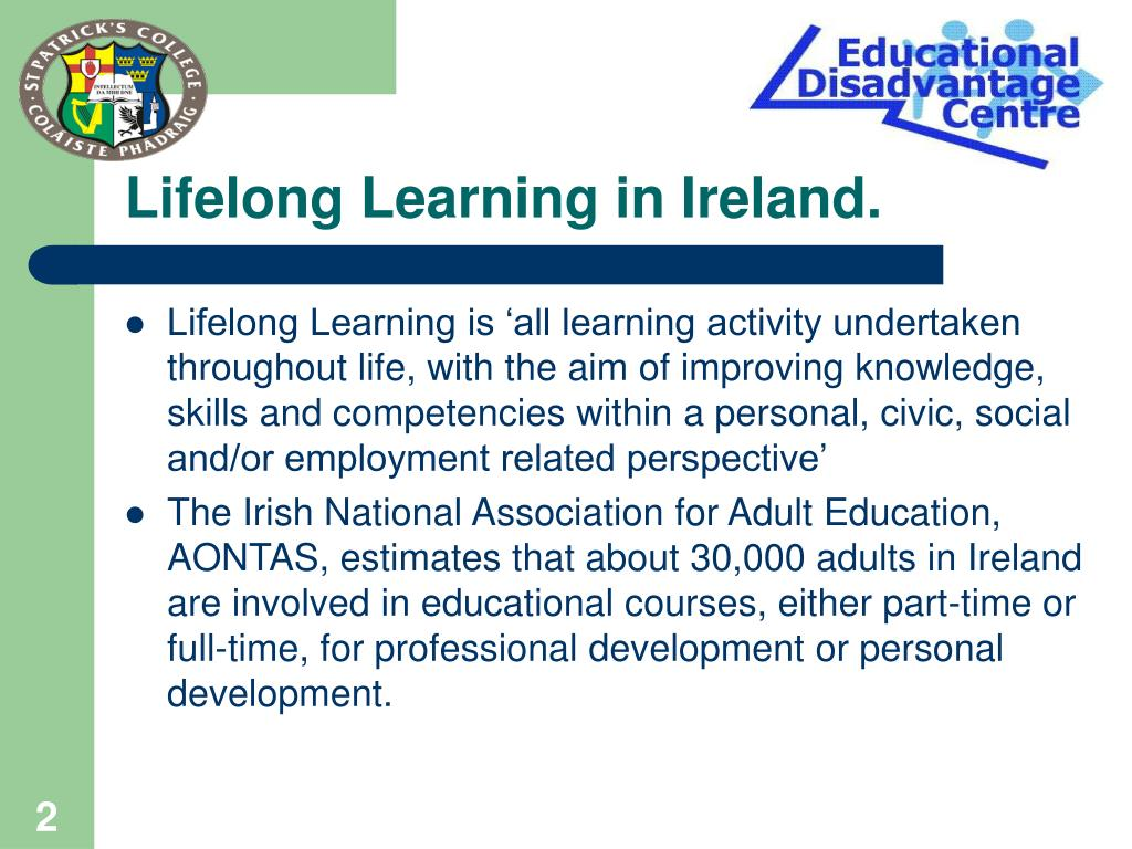 Lifelong Learning in Ireland.