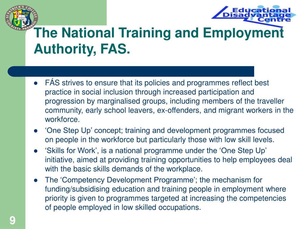 The National Training and Employment Authority, FAS.