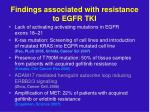 findings associated with resistance to egfr tki