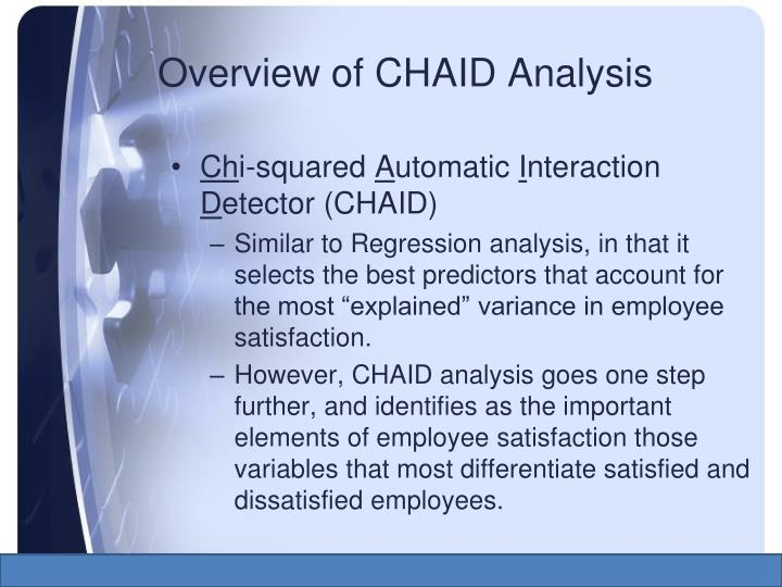 chaid analysis Join keith mccormick for an in-depth discussion in this video, how chaid handles nominal variables, part of machine learning &amp ai foundations: decision trees.