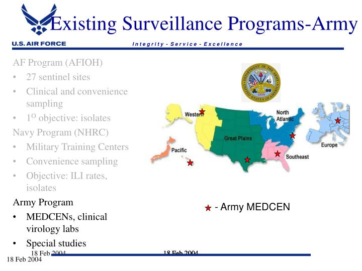 Existing Surveillance Programs-Army
