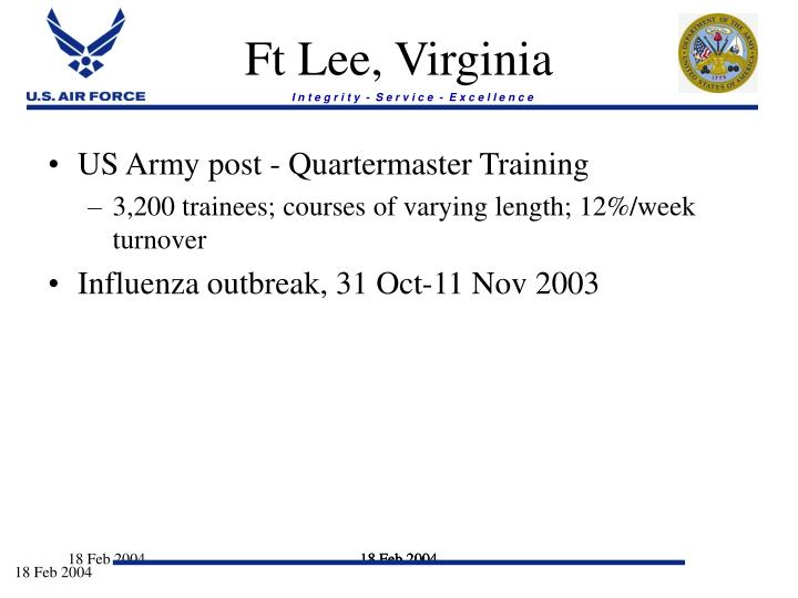 Ft Lee, Virginia