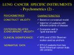 lung cancer specific instruments psychometrics 2