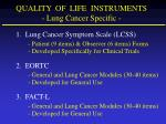 quality of life instruments lung cancer specific